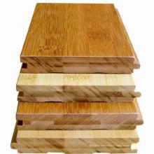 Laque UV horizontale de plancher de bambou solide carbonisée
