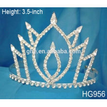 Tiara mundo pierda plata bling tiaras nuevo diseño joyas tiara coronas de plástico y tiaras