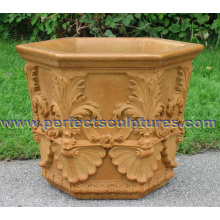 Stone Marble Flower Planter for Garden Ornament (QFP331)