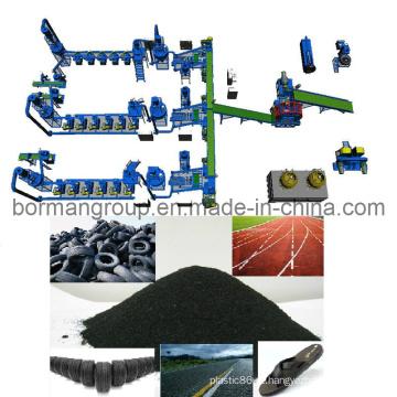 Equipamento para reciclagem de pneus
