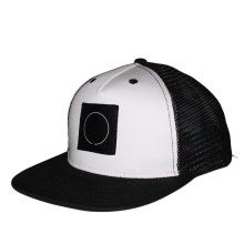 Black custom snapback trucker mesh hats 5 panel flat brim snapback wholesale trucker caps