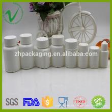 Botella plástica vacía redonda de la medicina del grado del alimento de HDPE para sano