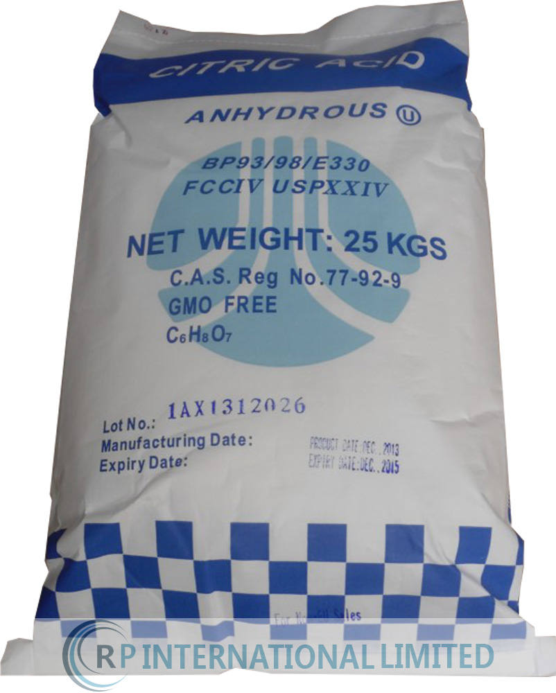 Citric Acid Anhydrous BP / USP / E330