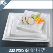 paté de cena de forma cuadrada de porcelana blanca, plato de pizza, placa de estilo coreano