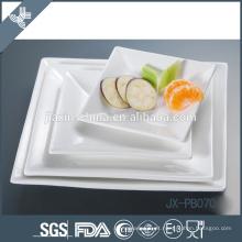 pasta quadrada branca do jantar da forma da porcelana, placa da pizza, placa coreana do estilo