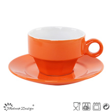 Shinning Glazing Color Cup and Saucer