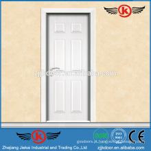 JK-MW9008 branco puro estilo conforto interior porta de madeira de melamina