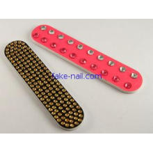 Sand paper Gold glass stone Emery Board Nail File , Diamond