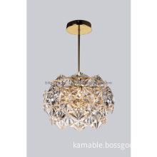 Modern hotel decoration glass pendant lighting(KAM020X1-6)