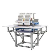 Elucky novas 15 cores de alta velocidade duas cabeças máquina de bordar semelhante ao tajima com ISO, GV, CE
