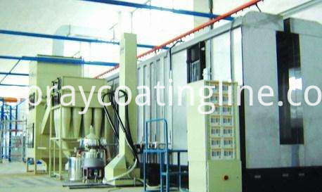 electrostatic cabinet powder coating line