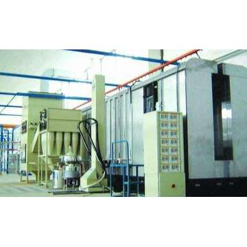 electrostatic cabinet powder coating line