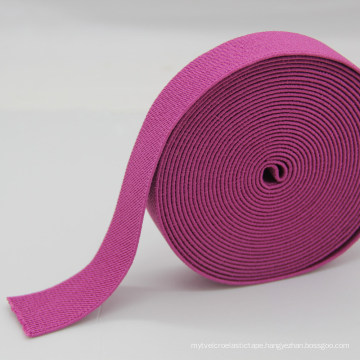Pink Polyester / Nylon / Cotton / PP Elastic Webbing /Ribbon for Belt / Garment Accessories