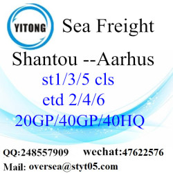 Shantou port sea freight shipping to Aarhus