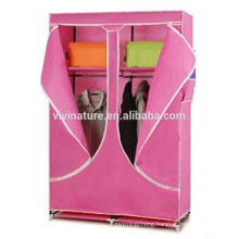 High Quality Wardrobe\Single Canvas effect Wardrobe Clothes Rail Storage