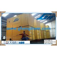 Machine de conditionnement d'ensachage et de pesée de type à conteneur