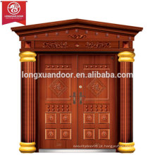 Fábrica de portas exteriores personalizadas, porta de bronze duplo