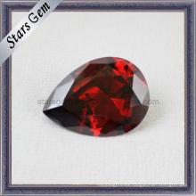 Hermosa piedra de piedras preciosas cúbicos forma de pera de circonio