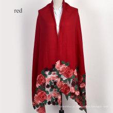 Design de luxo de alta qualidade tamanho grande senhora inverno confortável cashmere pashmina xale