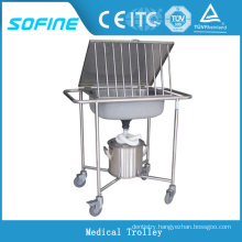 SF-HJ2010 stainless steel hospital cleaning trolleys