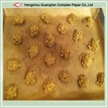 Papel de pergamino de la hornada de Brown de la categoría alimenticia antiadherente de Siliconized para la panadería