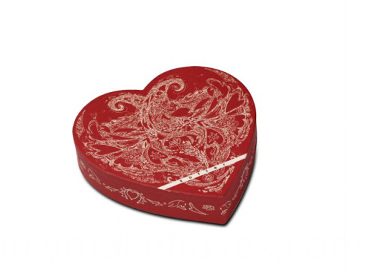red heart shaped gift paper box for candy