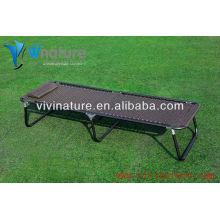Capacidad de peso Lay Long Bed / High Quality Durable Beach Uso de la cama con almohada / útil fuera de la puerta plegable de peso Camp Chair