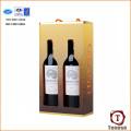 Caja de regalo del vino del portador de la cartulina de la alta calidad