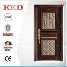 2015 New Design High Quality Steel Door KKD-911 With Aluminum Finish For Main Door Design