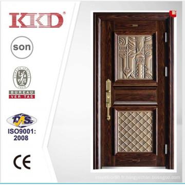 2015 nouveau Design haute qualité en acier porte KKJ-911 avec l'aluminium finition pour porte d'entrée Design