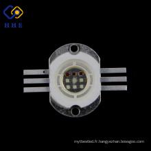 la puissance élevée 10W RVB a mené avec la forme carrée menée de jetons
