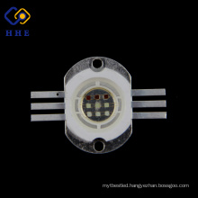 high lumen 6-pin tri-color high power 10w rgb led for stage light
