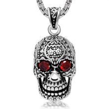 Готический ожерелье циркон Шкентель черепа нержавеющей стали 316L ювелирные изделия