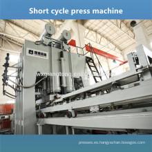 Máquina de laminado lateral doble Panel de superficie de melamina que hace la línea Prensado prensa macine