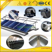 Cadre en aluminium adapté aux besoins du client de profil de panneau solaire avec la surface d'oxydation anodique
