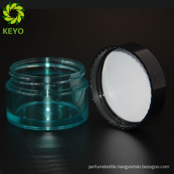 Plastic body material and PET collar material sealer transparent cosmetic plastic jar