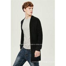 70% Acrylique 30% de laine abandonnée Hommes Hommes Cardigan long