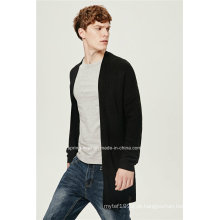 70% acrílico 30% lã caiu ombro homens casaco longo