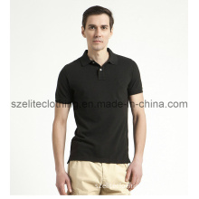 Black Cotton Polo Shirt for Man (ELTMPJ-66)