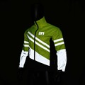 Yellow fluo high visibility workwear reflective safety reflective security fleece jacket