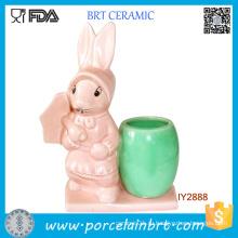 Милые Пасхальные Дядя Кролик Цветочный Горшок Мини-Керамические Стол Плантатор