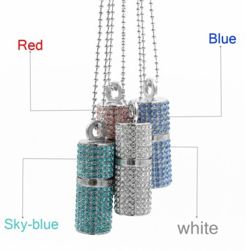 Lipstick+style+Crystal+Necklace+16GB+Usb+Memory+stick