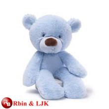 ICTI Audited Factory sonriente oso azul peluche juguete