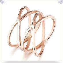 Bijoux en acier inoxydable Bague à bijoux pour femmes (SR339)