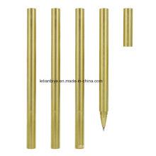 Rationalisez le stylo en métal de Rollerball de plat d'or (LT-B006)