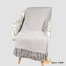 Hot Selling Mediterranean Style Slubby Yarn Blanket