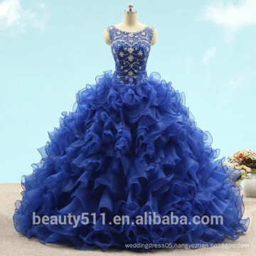 2017 New Style Quinceanera gowns Sheath Sweetheart tulle with beading long formal Quinceanera Party Prom Dress