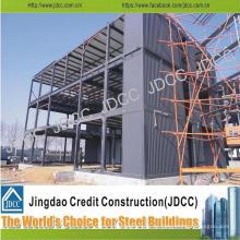 Edificio de estructura de acero ligero de oficina de varios pisos de varios pisos