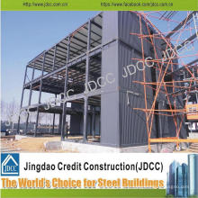 Bâtiment de structure en acier léger de bureau d'usine de Multi-Storey de coût bas