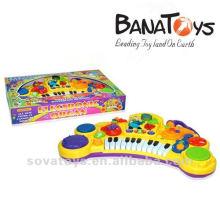 2 em 1 miúdo órgão elétrico brinquedo e tambor de brinquedo